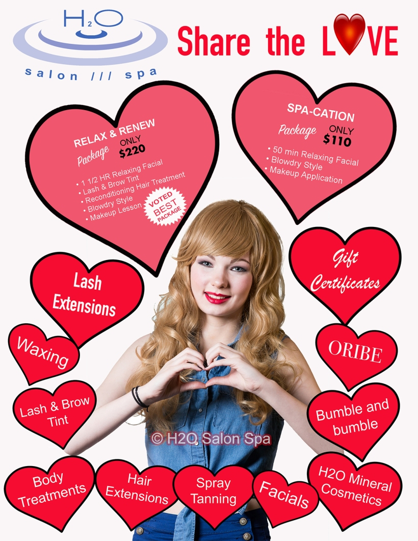 H2O Salon Spa Valentines day email