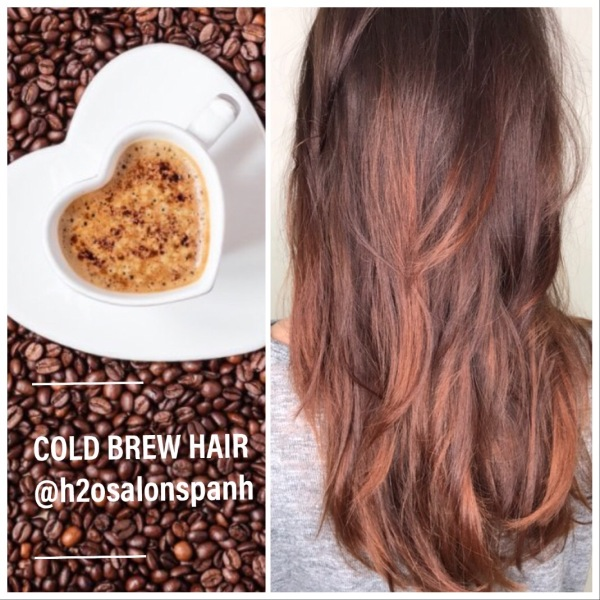 H2O Salon Spa Fall hair color trends cold brew hair
