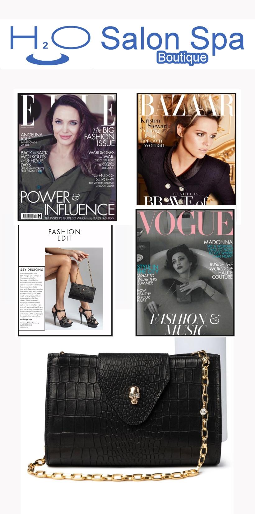 H2O Salon Spa Boutique Luxury Leather Handbags